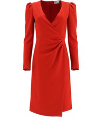 red valentino crepe double stretch dress
