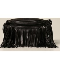dsquared2 belt bag dsquared2 pouch in nappa with fringes