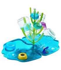 escorredor de mamadeiras tinok azul e verde