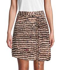 sandy dots a-line mini skirt