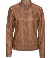 giacca in similpelle effetto lavato (marrone) - john baner jeanswear