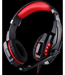 audifonos diadema con enchufe usb y reducción de ruido - rojo