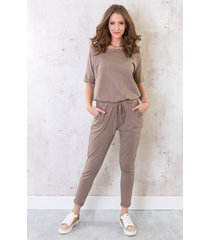 basic jumpsuit taupe