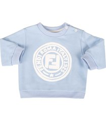 fendi light blue sweatshirt for babyboy with double ff