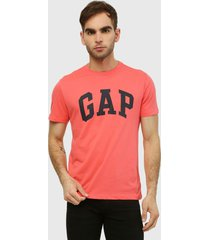 camiseta coral-azul gap