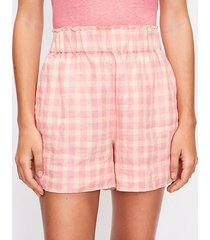 loft lou & grey gingham linen shorts