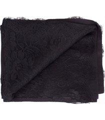 black chantilly center panel shawl