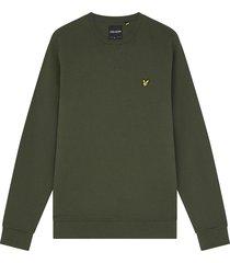 lyle and scott ml424vog lyle&scott crew neck sweatshirt, w485 olive