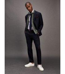 tommy hilfiger men's slim fit stretch wool suit navy/indigo - 46