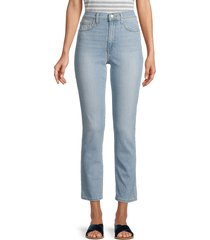 joe's jeans women's high-rise straight ankle jeans - blue - size 32 (10-12)
