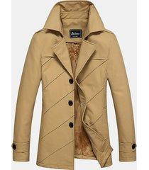 inverno casual business addensare giacca collo alto caldo colore solido per gli uomini