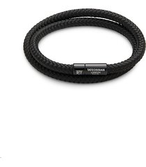 tateossian men's aluminum & cord bracelet
