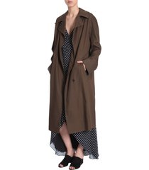 haider ackermann trench coat with raglan sleeves