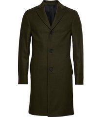 cashmere wool crombie coat wollen jas lange jas groen calvin klein