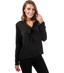 only womens mona pussy bow blouse size 6 in black