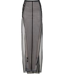 rick owens black and white cotton skirt