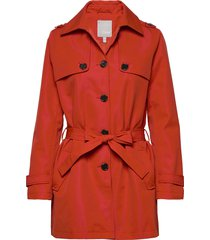 frhatrench 1 outerwear trenchcoat lange jas rood fransa