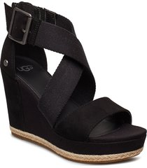 w.calla sandalette med klack espadrilles svart ugg