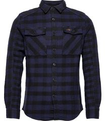 buffalo flannel shirt overhemd casual blauw superdry