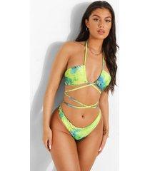 tropicana bikini top met bandjes, blue