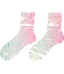 lights' foil effect silk blend crew socks