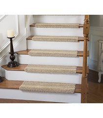 caprice bullnose carpet stair tread with adhesive padding, by tread comfort (sin