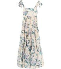 zimmermann cassia hydrangea floral midi dress