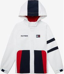 tommy hilfiger boy's adaptive letter print jacket classic white multi - xl