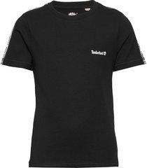 short sleeves tee-shirt t-shirts short-sleeved svart timberland
