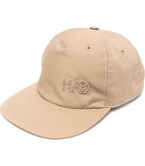 mm6 maison margiela six-panel construction cap - brown