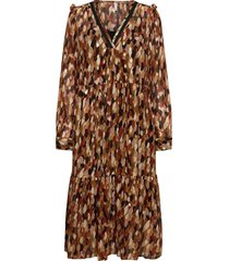 pzhelma dress knälång klänning brun pulz jeans