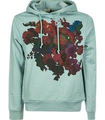 dries van noten floral print hoodie