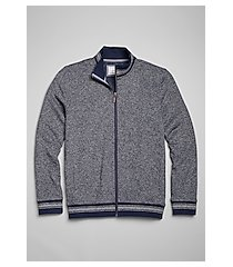 1905 collection tailored fit mock neck full zip jacket - big & tall