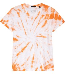 women's atm anthony thomas melillo schoolboy tie dye t-shirt, size small - orange