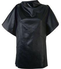 3.1 phillip lim side snap cape top - black
