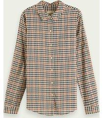 scotch & soda regular fit blouse met lange mouwen van biologisch katoen