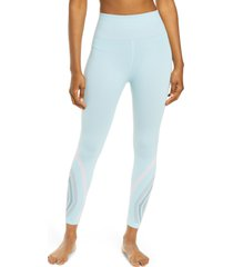 women's free people fp movement the essence high waist leggings, size x-small/small - blue/green