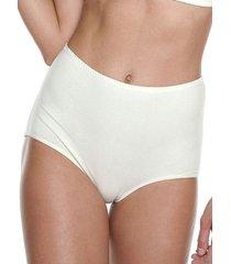 panty clásico algodón tiro alto marfil  ref.1143 soutien