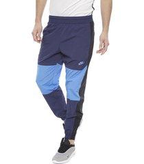pantalón térmico nike m nsw re-issue pant wvn azul - calce regular