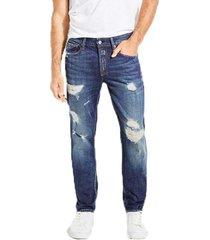 jeans slim tapered premium azul guess