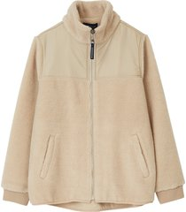 jacka sammie sherpa wool blend jacket
