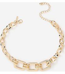 *chunky square link necklace - gold