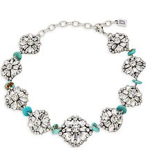 betsy swarovski crystal & synthetic turquoise necklace