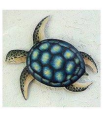 steel wall art, 'sea turtle' (mexico)
