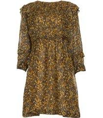 jurk met print sandra  bruin