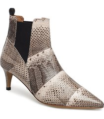 may boot shoes boots ankle boots ankle boots with heel beige by malene birger