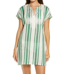 women's tory burch stripe cover-up tunic, size - (nordstrom exclusive)