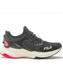zapatilla negra fila float fit