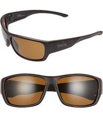 men's smith forge 61mm polarized sunglasses - matte tortoise/ brown