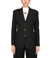 alexander wang single-breasted jacket